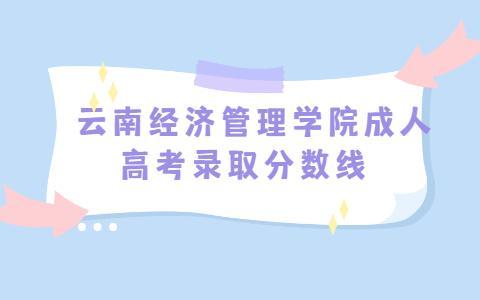 云南经济管理学院成人高考录取分数线