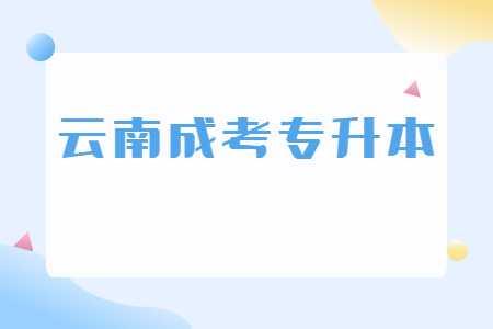 云南成考专升本